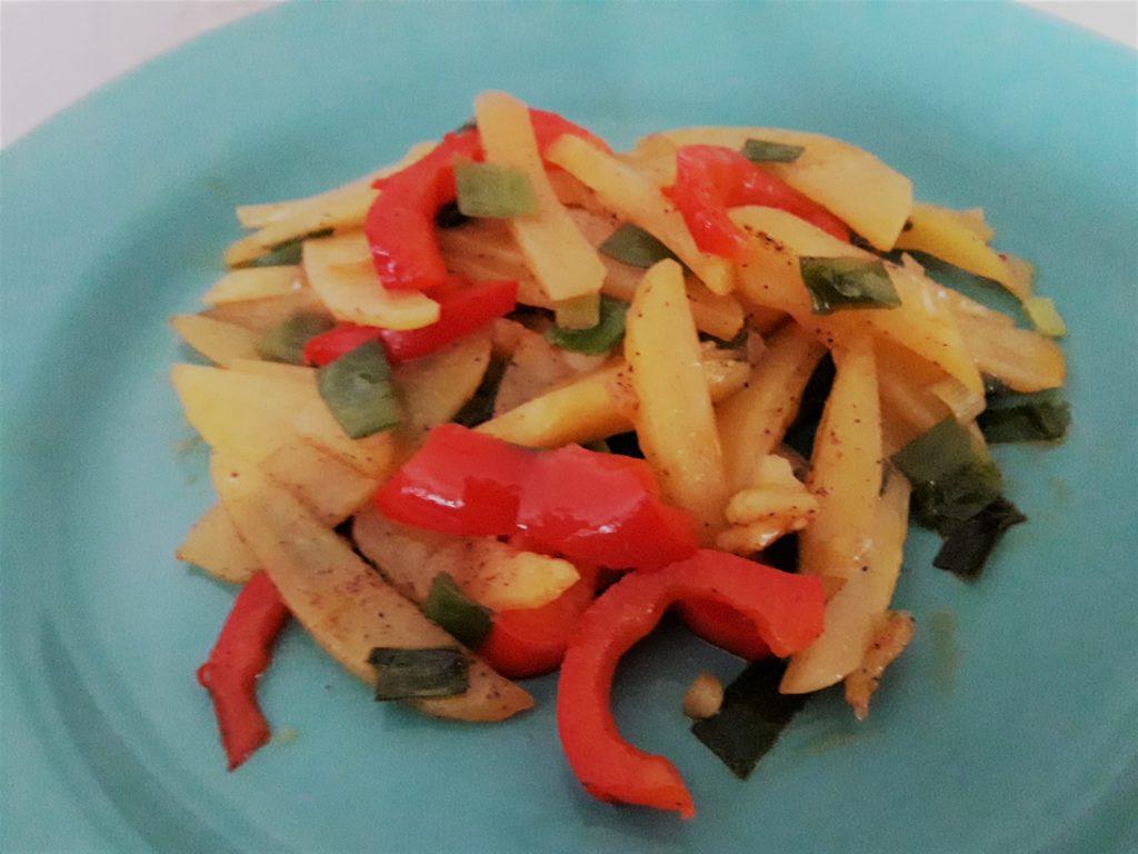 Süßsauer-scharfe Kartoffeln