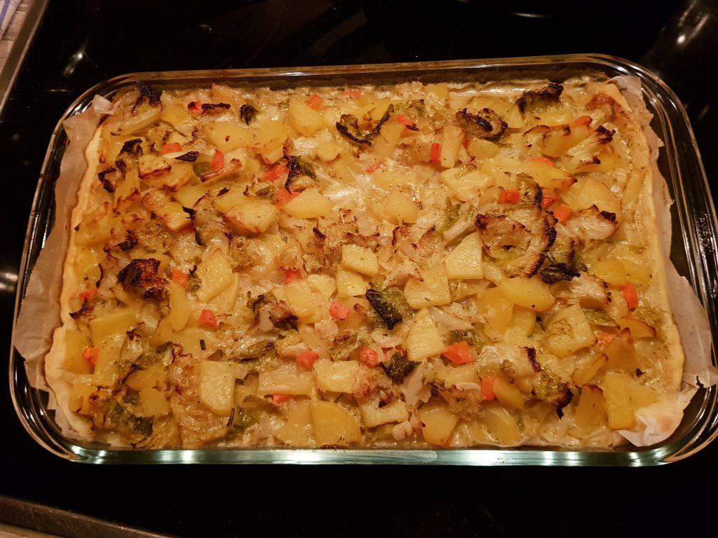 Wirsing-Kartoffel-Gemüse im Blätterteig