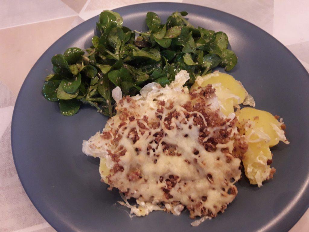 Kartoffel-Sauerkrautauflauf mit Knusperkruste